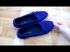 Вязаная обувь из старых кроссовок//Подошва для вязания - YouTube