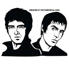 Oasis band vector image.