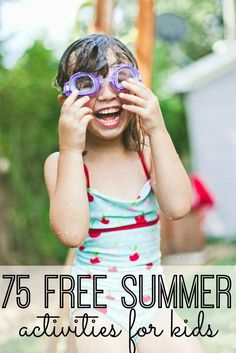Looking for free and fun activities to keep your kids busy all summer long? Moms (and kids!) will love these 75 FREE summer activities for kids! Great ideas!!