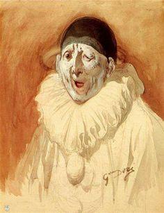 """Gustave Dore. """"Pierrot Grin""""."""