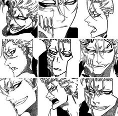 Image via We Heart It #anime #b&w #bleach #grimmjow #inspiration #manga #animeboy