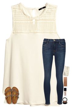 """""""girl you make me shy shy shy"""" by smileyavenuegirl ❤ liked on Polyvore featuring H&M, Frame Denim, NARS Cosmetics, MAC Cosmetics, Urban Decay, American Eagle Outfitters and FOSSIL"""