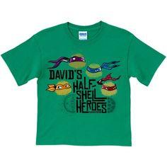 Personalized Teenage Mutant Ninja Turtles Half Shell Heroes Youth Green T-Shirt, Boy's