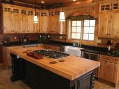 solid wood hickory kitchen cabinets - Google Search