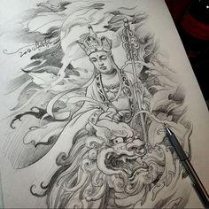 Chronic Ink Tattoo - Toronto Tattoo Sketch done by Master Ma.