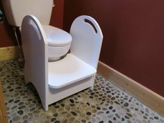 Handmade Wood Potty Step Stool (white)
