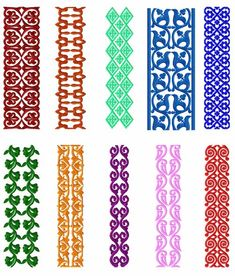 Borders 10 Machine Embroidery Designs Set For Large Hoop Border Embroidery Designs, Christmas Embroidery Patterns, Embroidery Motifs, Embroidery Patterns Free, Textile Patterns, Machine Embroidery Designs, Embroidery Books, Rose Embroidery, Quilting Designs