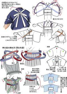着物かんたん解説8 袴の紐、たすきがけ/摩耶薫子