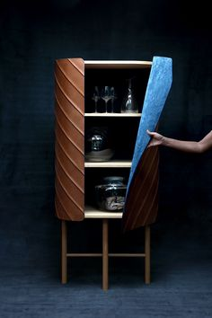 leather wallet cabinet developed by pierre charrié and maison fey