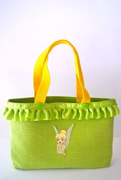 Tinker Bell Inspired Tote Bag and Lanyard Set on Etsy, $23.00