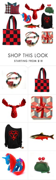 """""""So Red Wow"""" by fivefoot1designs ❤ liked on Polyvore featuring interior, interiors, interior design, home, home decor, interior decorating, White Faux Taxidermy, etsy, etsygifts and ETSYShopping"""