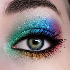 Cool tie dye sparkly make-up