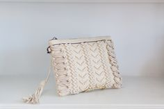 Perfect summer clutch, with crossbody strap included!