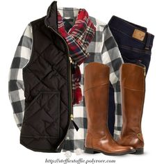 A fashion look from October 2014 featuring J.Crew tops, J.Crew vests and American Eagle Outfitters. Browse and shop related looks.