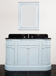 Cotswold 4 door vanity unit in Fired Earth Blue Ashes, 1340mm wide