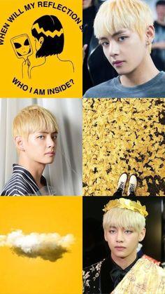 Taehyung yellow aesthetic