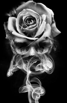 Cool Skull Tattoos For Women – My hair and beauty Skull Rose Tattoos, Flower Tattoos, Body Art Tattoos, Hand Tattoos, Skull Sleeve Tattoos, Tatoos, 3d Rose Tattoo, Realistic Rose Tattoo, Blue Rose Tattoos