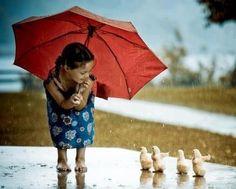 in the rain.....