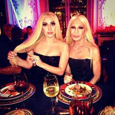 A guide to 2014's fashion friendships on Instagram: Lady Gaga & Donatella Versace