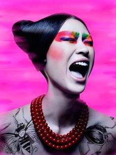 Asian scream ~ cool pink fashion photo
