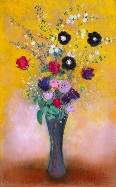 Odilon Redon - A Vase of Flowers - 1916