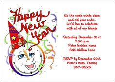 Find help with your new years party invitation wordings at ensure your invitation wordings for new years party includes all the details with samples wording ideas at invitationsbyu stopboris Images
