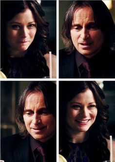 Rumplestiltskin and Belle | i love the way she looks at him! #rumbelle #OUAT