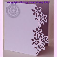 Shirley's Cards: Flower Card Freebie