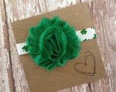 Green Flower Headband Green Headband Green by MommysBowCreations