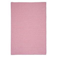 Charlton Home Gilmour Light Pink Solid Indoor/Outdoor Area Rug Rug Size: 3' x 5'