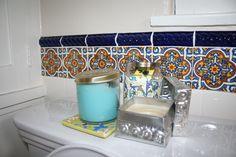 spanish tiles in the bathroom, chec