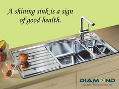 A clean #Sink makes a healthy #Kitchen. Explore the complete range @ www.diamondsink.in #SteelSink #SteelKitchenSink #StylishSinks #DiamondSink