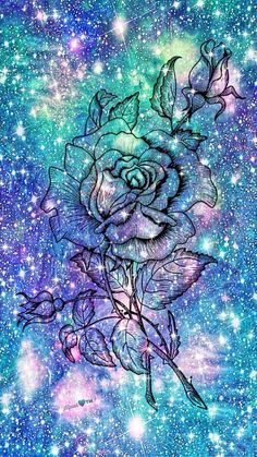 New Wallpaper Rose Blue 32 Ideas Cute Galaxy Wallpaper, Wallpaper Iphone Disney, Trendy Wallpaper, Blue Wallpapers, Cute Wallpaper Backgrounds, Love Wallpaper, Pretty Wallpapers, Glitter Wallpaper, Wallpaper Quotes