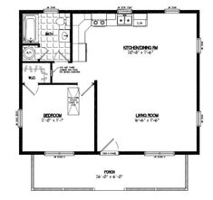 two bedroom 24x24 plan | mostly small houses | pinterest | cabin