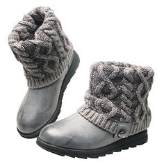 Muk Luks Women's Patti Cable Winter Boot, Grey, 6 M US ** You can get additional details at the image link.