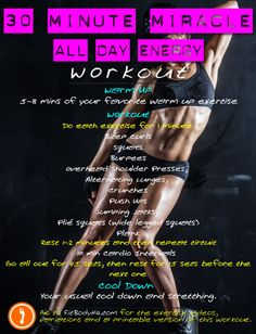 All-Day Energy Workout 3: 30 Minute Miracle - FitBodyHQ