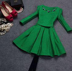 Slim round neck princess dress DR101708BM