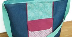 Learn how to make a tote bag that closes with a recessed zipper. Tutorial by Vicky Myers Creations