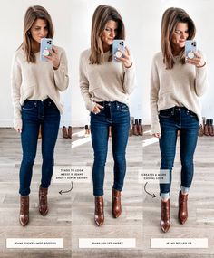 Jan 2020 - Talking about how to wear ankle boots and giving you oodles of outfit inspiration from wearing ankle booties with leggings to cuffed jeans and more! Brown Ankle Boots Outfit, Ankle Boots With Leggings, How To Wear Ankle Boots, Booties Outfit, Jeans And Boots, Cuffed Jeans, Ankle Boots Style, Brown Chelsea Boots Outfit, Cognac Boots Outfit