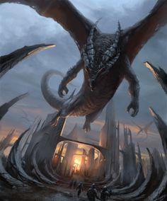Where Dragons Roam by ~m-hugo on deviantART
