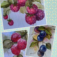 Frutas, pintura em tecido de Rute Mitie Preto.