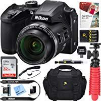 EXTREME ELECTRONICS Cloth +More Red Bundle with 32GB Sandisk Memory Card Nikon COOLPIX B500 Digital Point /& Shoot Camera