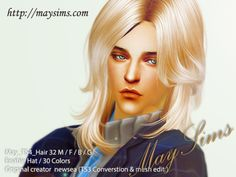 Mayims: Sims 4 Hair - May_TS4_Hair32M/F/B/G