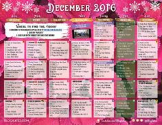 Your 2016 December Workout Calendar! | Blogilates: Fitness, Food, and lots of Pilates | Bloglovin'