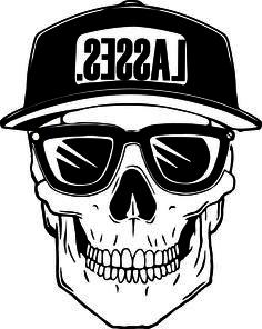 Lasses hat skull