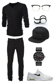 Untitled #237 by ohhhifyouonlyknew on Polyvore featuring NIKE, Cheap Monday, TheLees, Vans and Thom Browne
