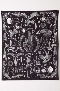 4040 Locust Tattoo Tapestry - Urban Outfitters