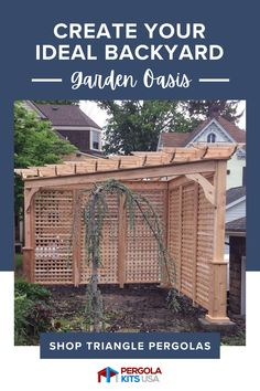 Get ready to spend a lot of time outdoors! With our pergola kits, you can build the backyard of your dreams. Outdoor living has never been easier! Red Cedar Lumber, Red Cedar Wood, Western Red Cedar, Cedar Pergola, Diy Pergola, Pergola Kits, Outdoor Retreat, Garden Oasis, Backyard Landscaping