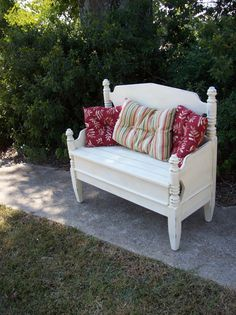 Reserve for Nancy Bench Hand Made Porch Furniture Pottery Barn Style French Country Shabby Chic Painted Distressed Treasury Item