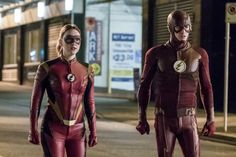 'Jessie Quick' and 'Barry Allen' as 'The Flash'